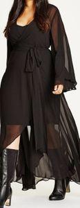 City Chic Fleetwood Maxi, black